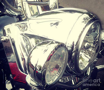Photograph - Motorcycle Chrome by Gregory Dyer