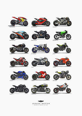 Digital Art - Motorcycle Concepts 2017-2018 by Jakusa Design