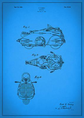 Harley Davidson Photograph - Motorcycle Design Patent 1935 by Mark Rogan