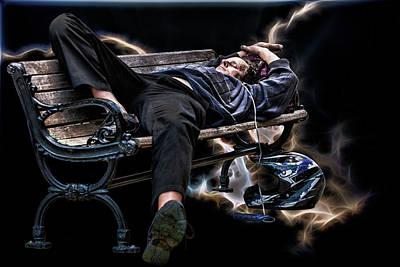 Music Ipod Digital Art - Motorcycle Dreams by John Haldane