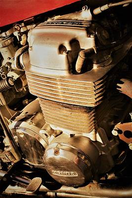 Photograph - Motorcycle Engine by David S Reynolds