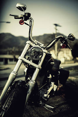 Photograph - Motorcycle In Vintage by Hyuntae Kim