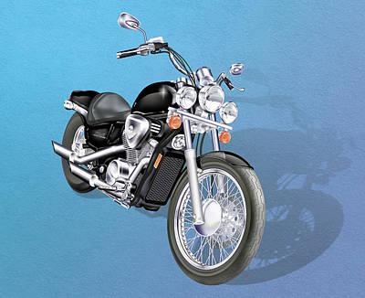 Digital Art - Motorcycle by Linda Carruth