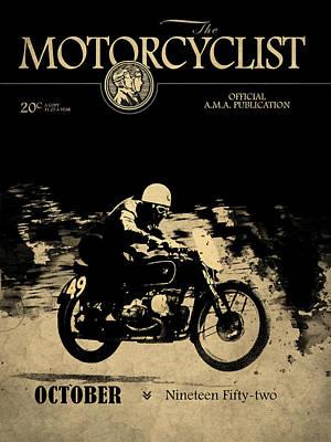 Motorcycle Magazine Bmw Racing Team 1952 Art Print