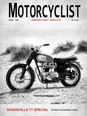 Motorcycle Magazine Bonneville Tt 1966 Art Print