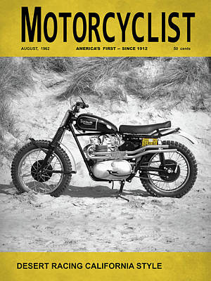 Motorcycle Magazine Desert Racing 1962 Art Print