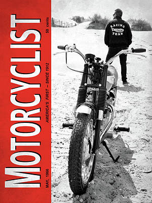 Motorcycle Magazine Desert Racing 1966 Art Print