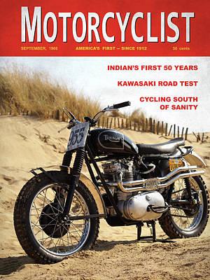 Motorcycle Magazine Desert Sled 1966 Art Print