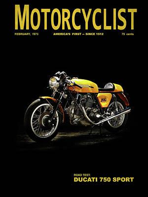 Motorcycle Magazine Ducati 750 Sport 1973 Art Print