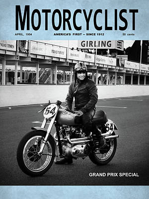 Motorcycle Magazine Grand Prix Special 1952 Art Print