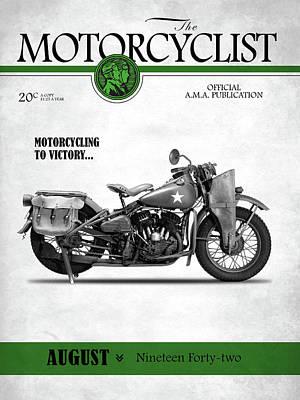 Motorcycle Magazine Harley Wla1942 Art Print