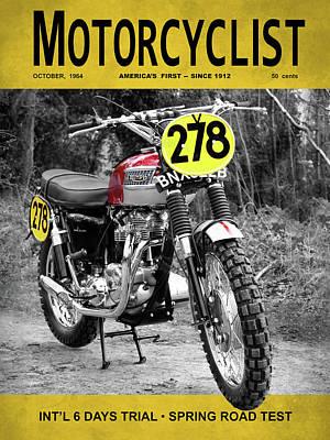 Motorcycle Magazine Isdt 1964 Art Print