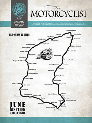 Motorcycle Magazine Isle Of Man Tt Guide 1938 Art Print