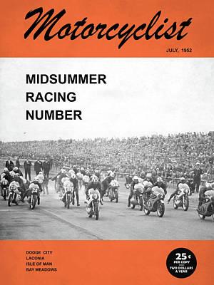 Motorcycle Magazine Midsummer Racing 1952 Art Print