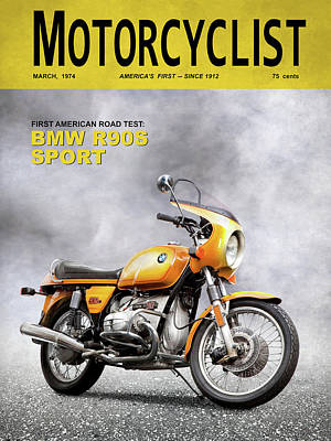 Motorcycle Magazine R90s 1974 Art Print
