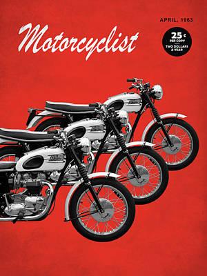 Motorcycle Magazine T120 Bonneville 1963 Art Print