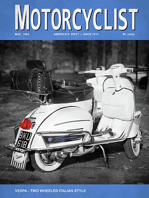 Motorcycle Magazine Vespa Italian Style 1964 Art Print