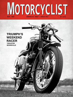 Motorcycle Magazine Weekend Racer 1960 Art Print