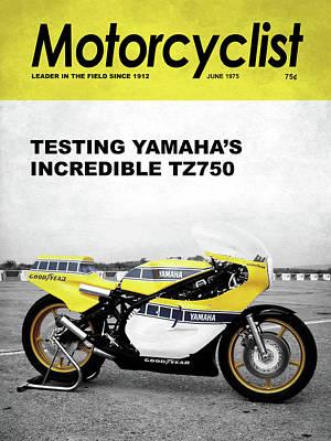 Motorcycle Magazine Yamaha Tz750 1975 Art Print