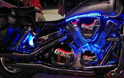 Photograph - Motorcycle Mirror by Don Youngclaus