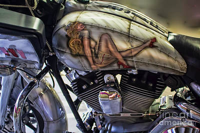 Photograph - Motorcycle Pinup by Steven Parker