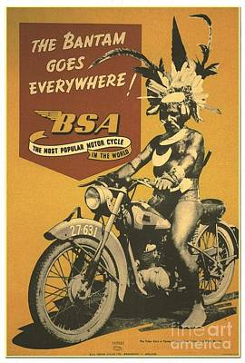 Photograph - Motorcycle - Poster by Roberto Prusso