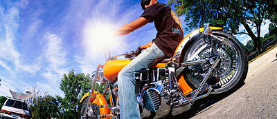 Motorcycle Rider Milwaukee Wi Art Print by Panoramic Images