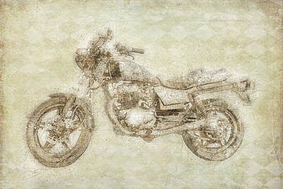Digital Art - Motorcycle Sepia by Ramona Murdock