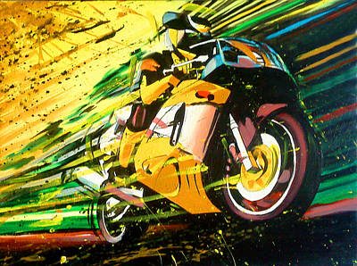 Painting - Motorcycle Speed by Robert Korhonen