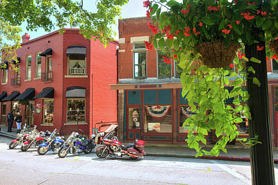 Photograph - Motorcycle Trip - Eureka Springs Arkansas by Gregory Ballos