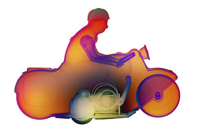 Photograph - Motorcycle X-ray No. 2 by Roy Livingston