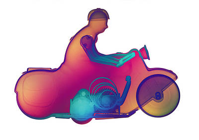 Photograph - Motorcycle X-ray No. 4 by Roy Livingston