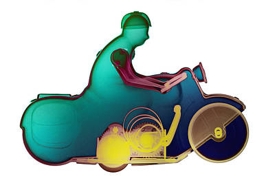 Photograph - Motorcycle X-ray No. 6 by Roy Livingston