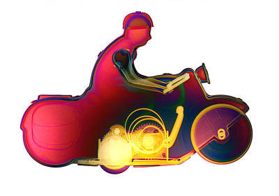 Photograph - Motorcycle X-ray No. 9 by Roy Livingston