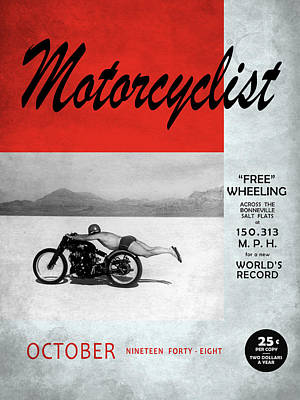 Motorcyclist Magazine - Rollie Free Art Print by Mark Rogan