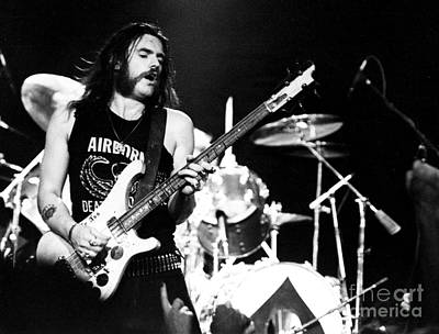 Lemmy Photograph - Motorhead Lemmy 1979 by Chris Walter