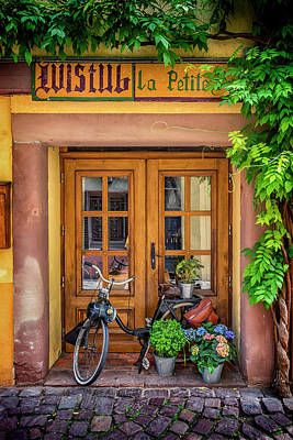 Photograph - Motorized Bicycle Colmar France_dsc7005_16 by Greg Kluempers