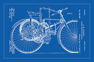 Painting - Motorized Bicycle by Gary Grayson