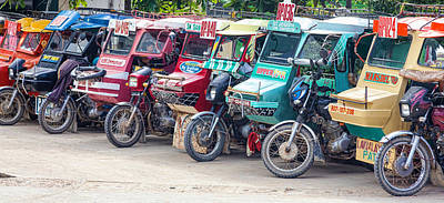 Photograph - Motorized Tricycles by James BO Insogna