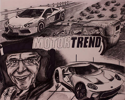 Racecar Drawing - Motortrend by Troy Howard
