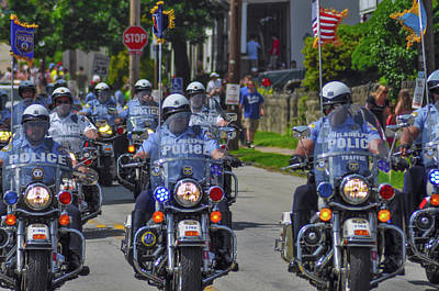 Photograph - Mototcycle Unit - Philadelphia Police by Bill Cannon