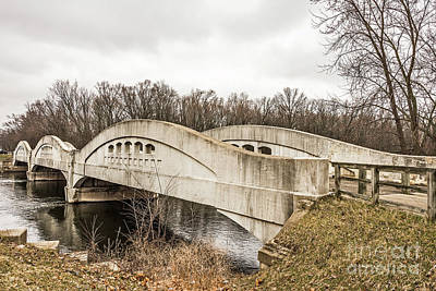 Photograph - Mottville Bridge On Us 12 In Michigan by Sue Smith