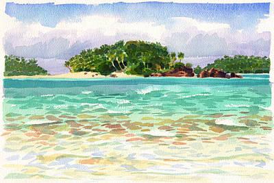 Painting - Motu Rakau, Aitutaki by Judith Kunzle