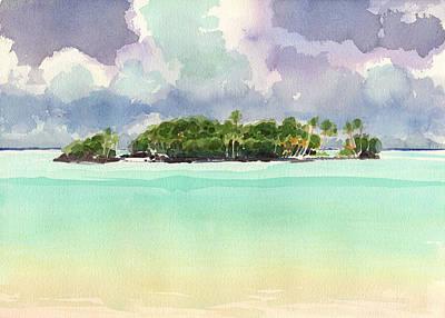 Painting - Motu Rapota, Aitutaki, Cook Islands, South Pacific by Judith Kunzle