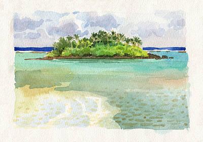Painting - Motu Taakoka by Judith Kunzle