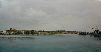 Painting - Moudania My Town-greece by Demetrios Vlachos