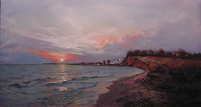 Painting - Moudania,sunset by Demetrios Vlachos