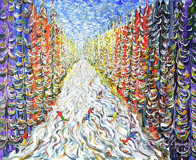 Painting - Mouillebiot Megeve by Pete Caswell