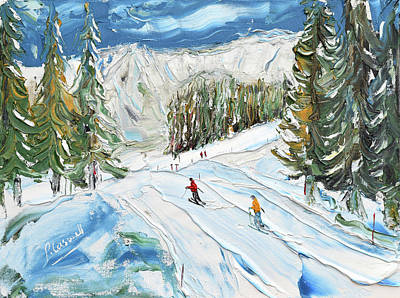Painting - Mouillettes Megeve by Pete Caswell