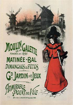 Mixed Media - Moulin De La Galette - Windmill And Associated Business - Vintage Advertising Poster by Studio Grafiikka